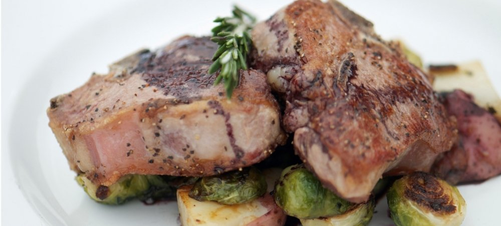 Steak with brussel sprouts