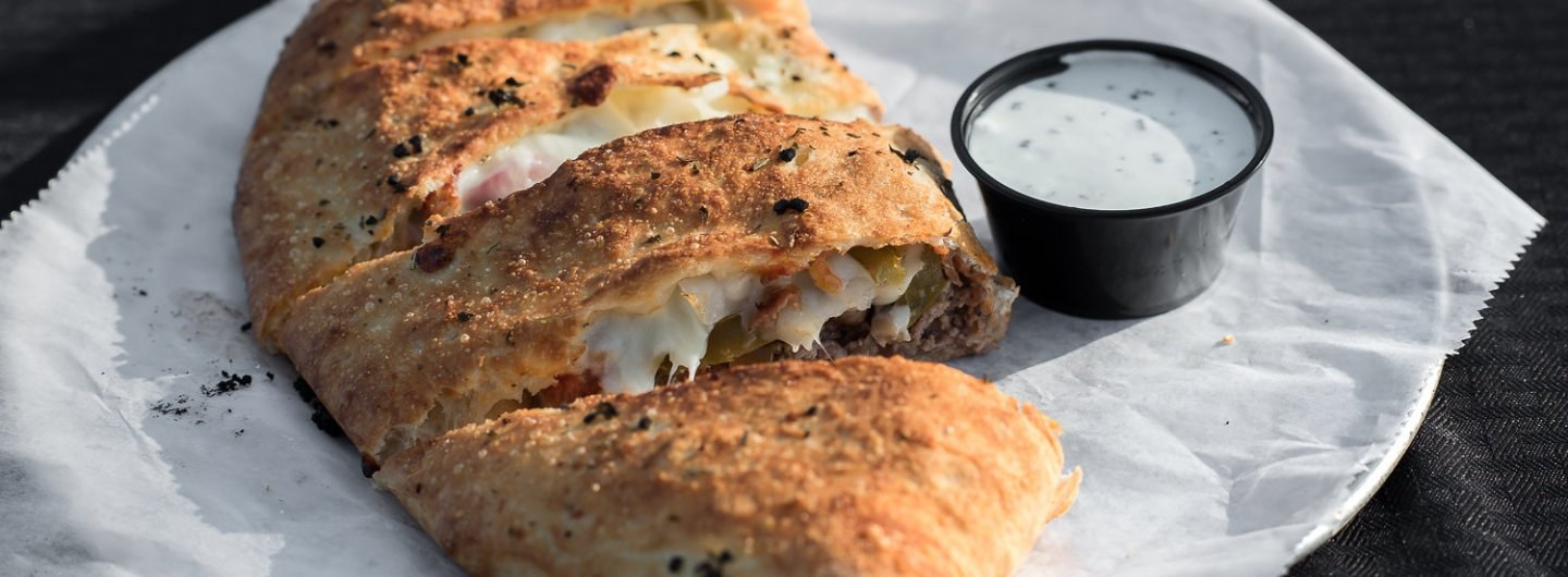 Steak Stromboli with Ranch